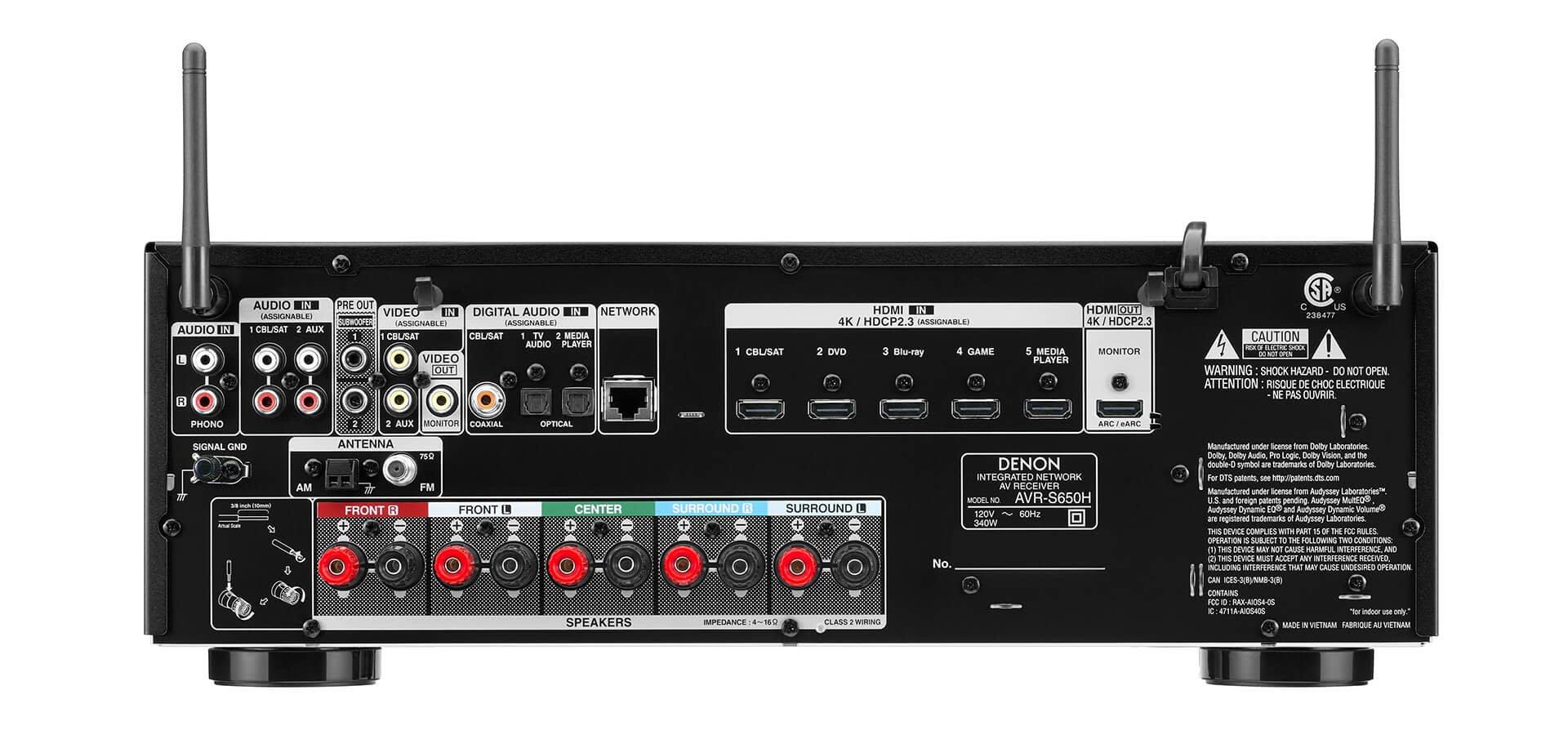 Denon Denon AVRS650H 5.2ch AV Receiver