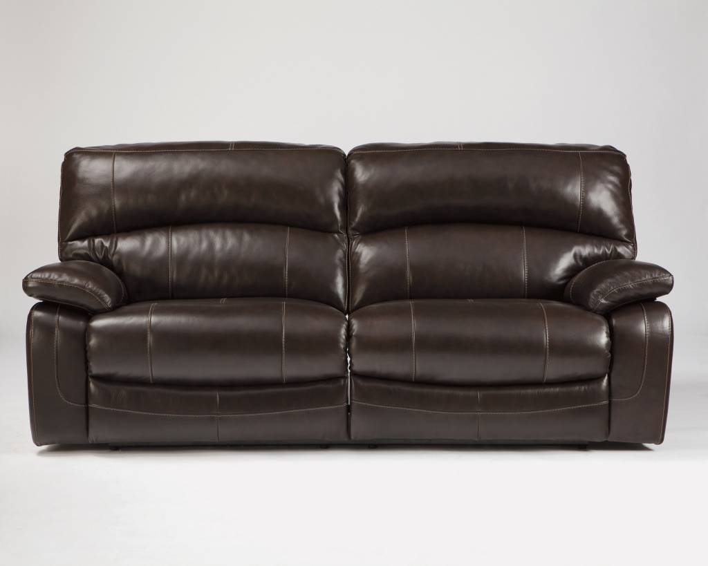 Signature Design Damacio, 2 Seat Reclining Power Sofa, Dark Brown U9820047