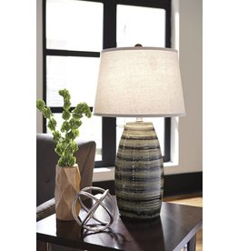 Signature Design Darlon, Ceramic Table Lamp, Brown L100514
