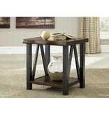 Signature Design Esmarina, Rectangular End Table, Walnut Brown T815-3