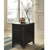 Signature Design Gavelston, Side End Table, Black T732-7