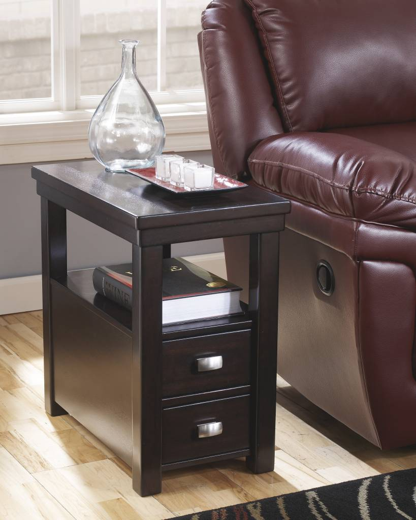 Signature Design Hatsuko, Side End Table, Dark Brown T864-7