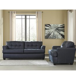 Signature Design Inmon, Loveseat, Navy 6580635