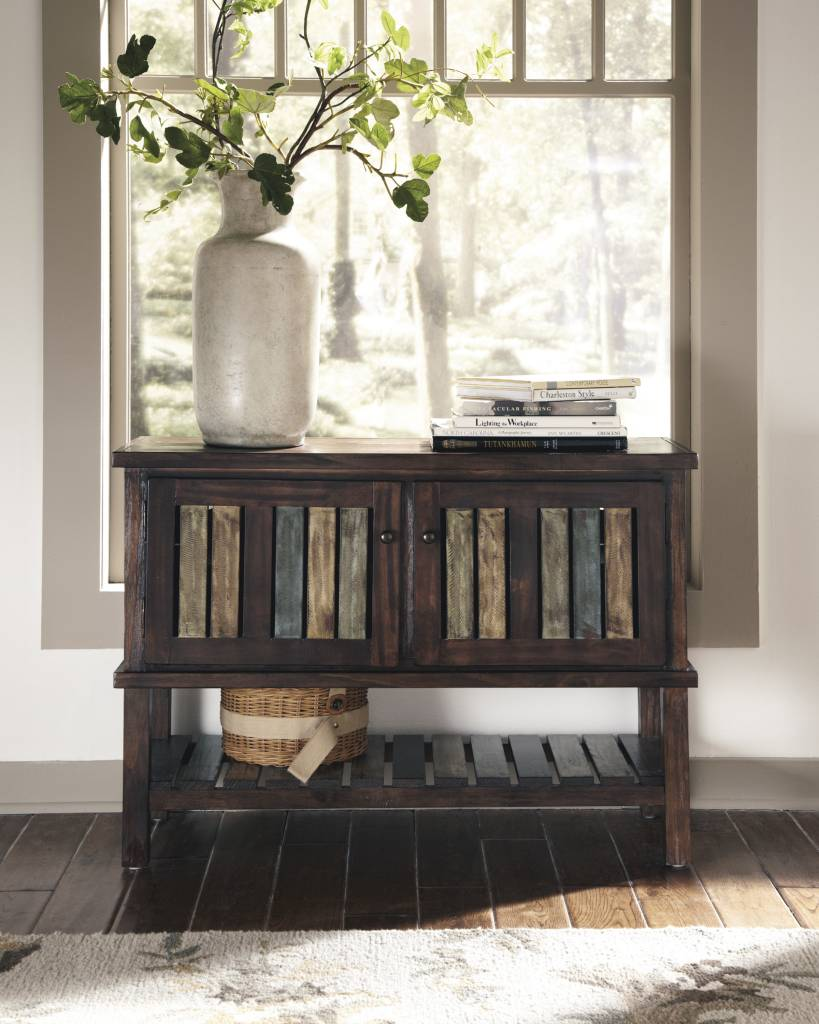Signature Design Mestler, Console, Rustic Brown T580-40