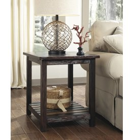 Signature Design Mestler, Rectangular End Table, Rustic Brown T580-3