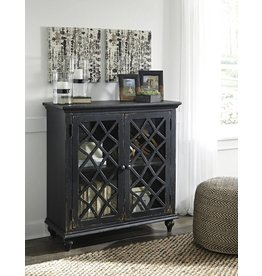 Signature Design DISCONTINUED:  Mirimyn, Door Accent Cabinet, Antique Black T505-842