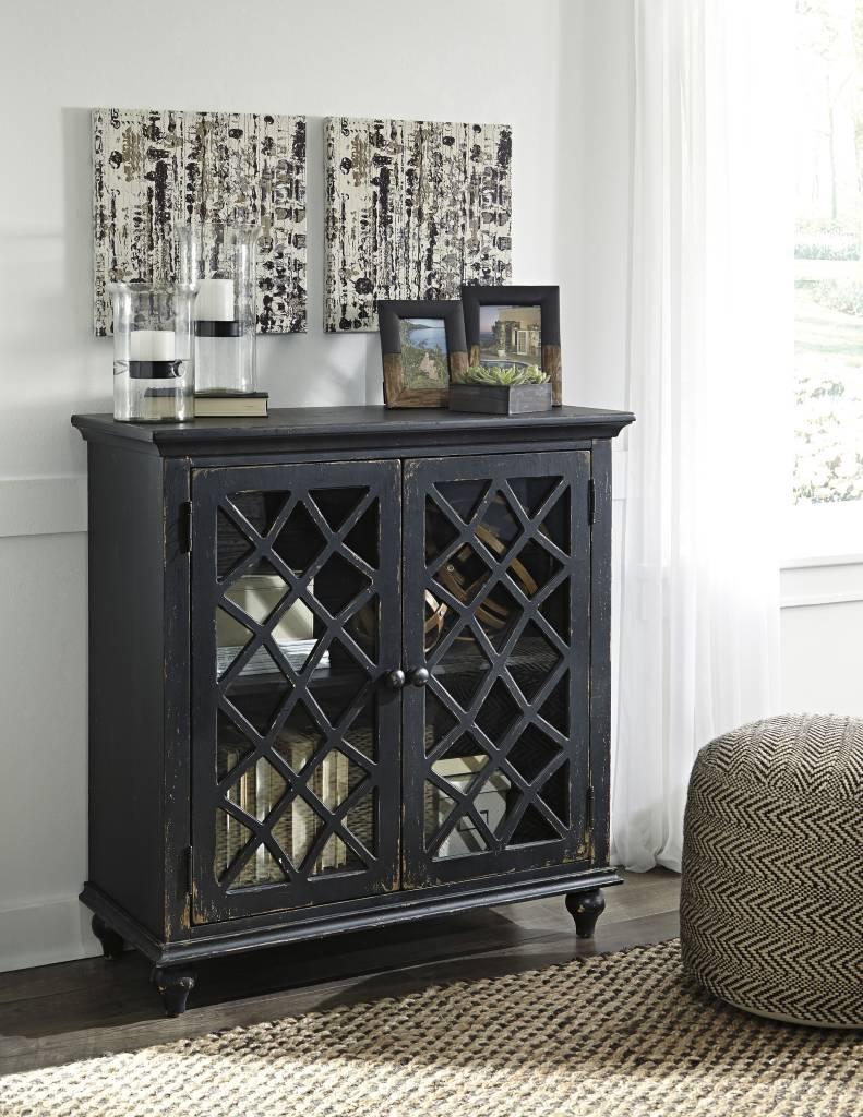 Signature Design Mirimyn, Door Accent Cabinet, Antique Black T505-842