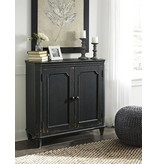 Signature Design Mirimyn, Door Accent Cabinet, Antique Black T505-840