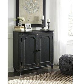 Signature Design DISCONTINUED:  Mirimyn, Door Accent Cabinet, Antique  Black T505-840
