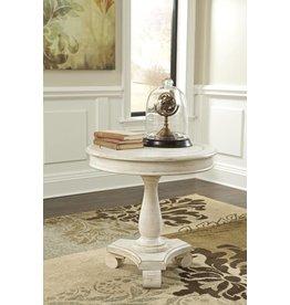 Signature Design Mirimyn, Round Accent Table, White T505-106
