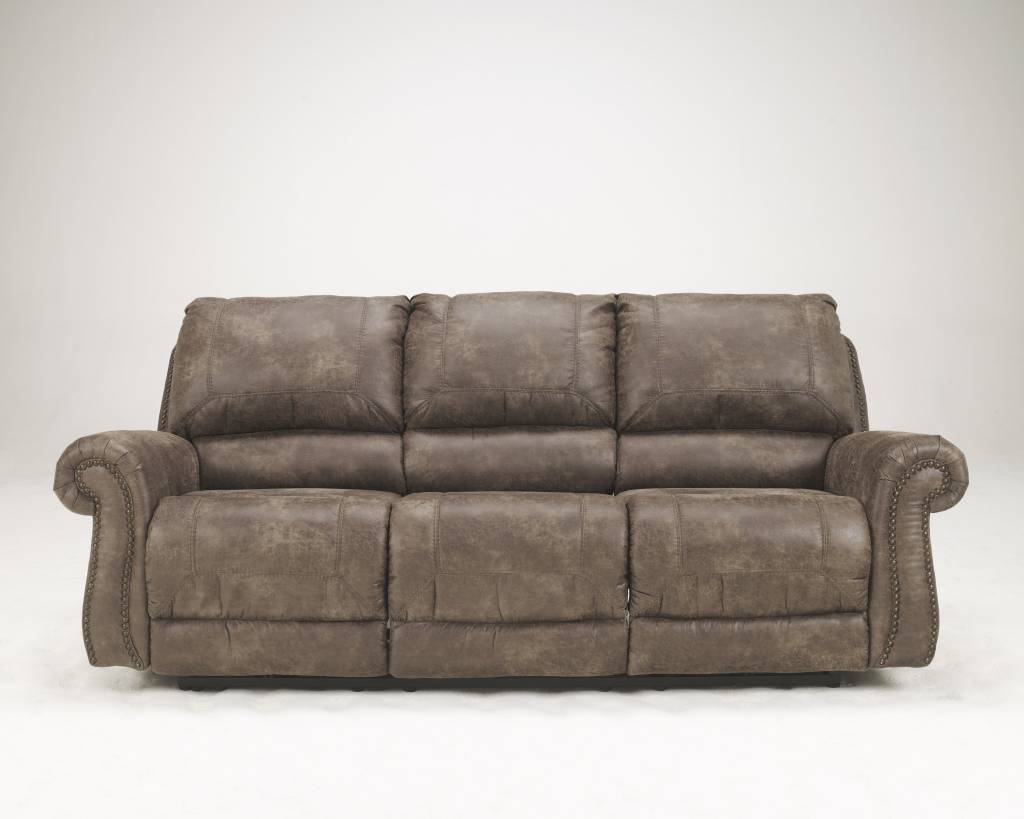 Signature Design Oberson, Reclining Power Sofa, Gunsmoke 7410097
