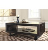 Signature Design Parlone, Rectangular Cocktail Table, Brown/Black T881-1
