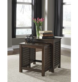 Signature Design DISCONTINUED Roxenton, Nesting Tables, Brown T885-16