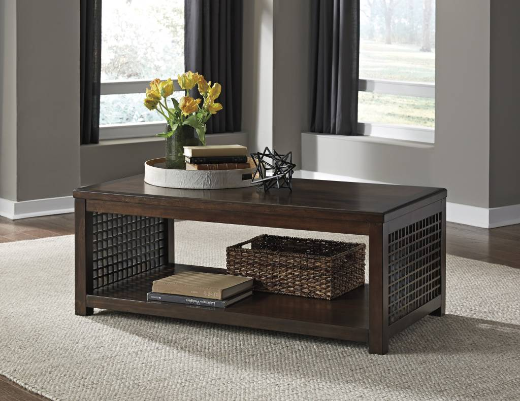 Signature Design DISCONTINUED Roxenton, Rectangular Cocktail Table, Brown T885-1