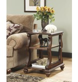 Signature Design Shelton, Chairside End Table, Dark Brown T489-7