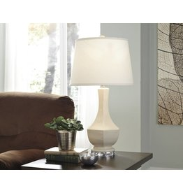 Signature Design Suellen, Ceramic Table Lamp, Cream L100424