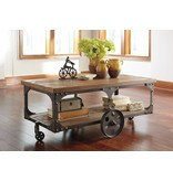 Signature Design Vennilux, Rectangular Cocktail Table, Gray/Brown T500-721