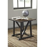 Signature Design Zenfield, Square End Table, Medium Brown T870-2
