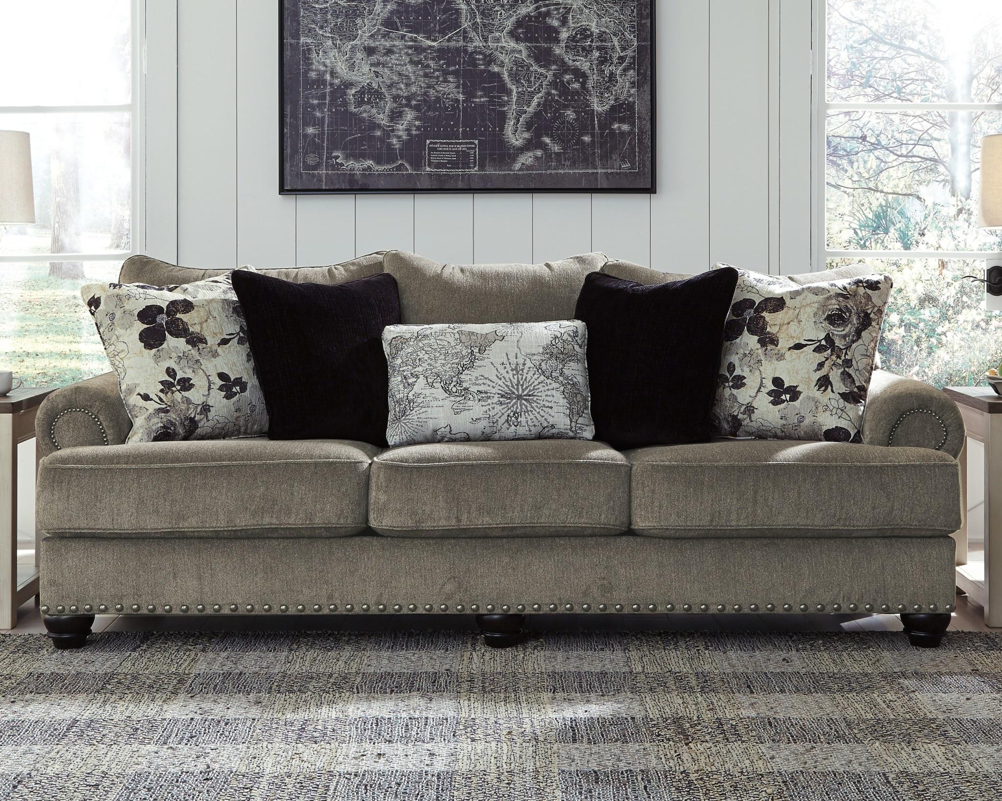 "Benchcraft Sofa- ""Sembler"" Cobblestone 2340238"