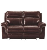 "Signature Design PWR REC Loveseat/ADJ Headrest- ""Timmons"" Burgundy  7450114"