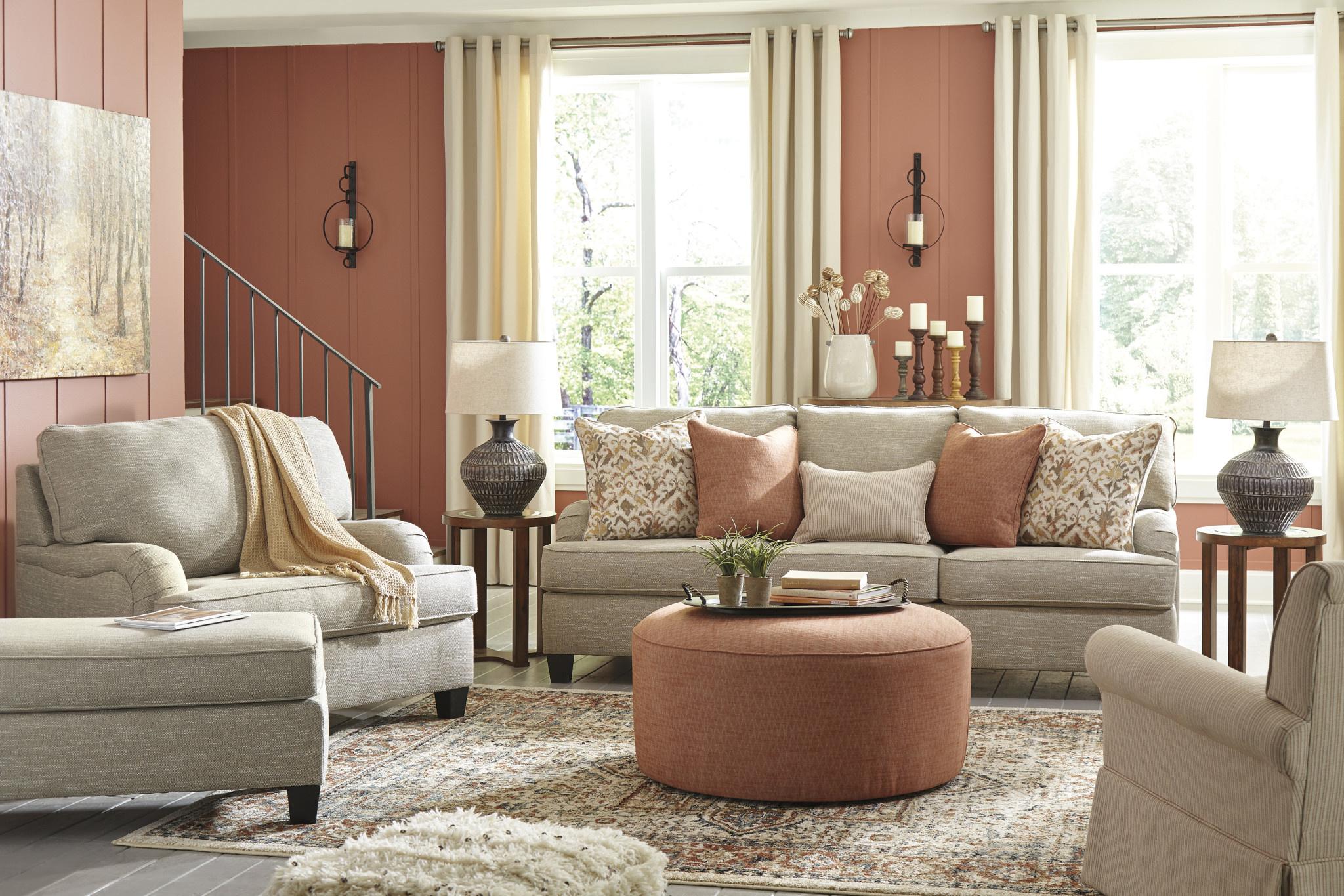 """Signature Design Swivel Glider Accent Chair- """"Almanza"""" Cinnamon 3080342"""