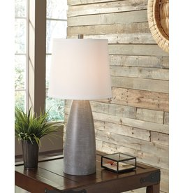 "POLY TABLE LAMP (Single)- ""Shavonte""- Gray L243004"