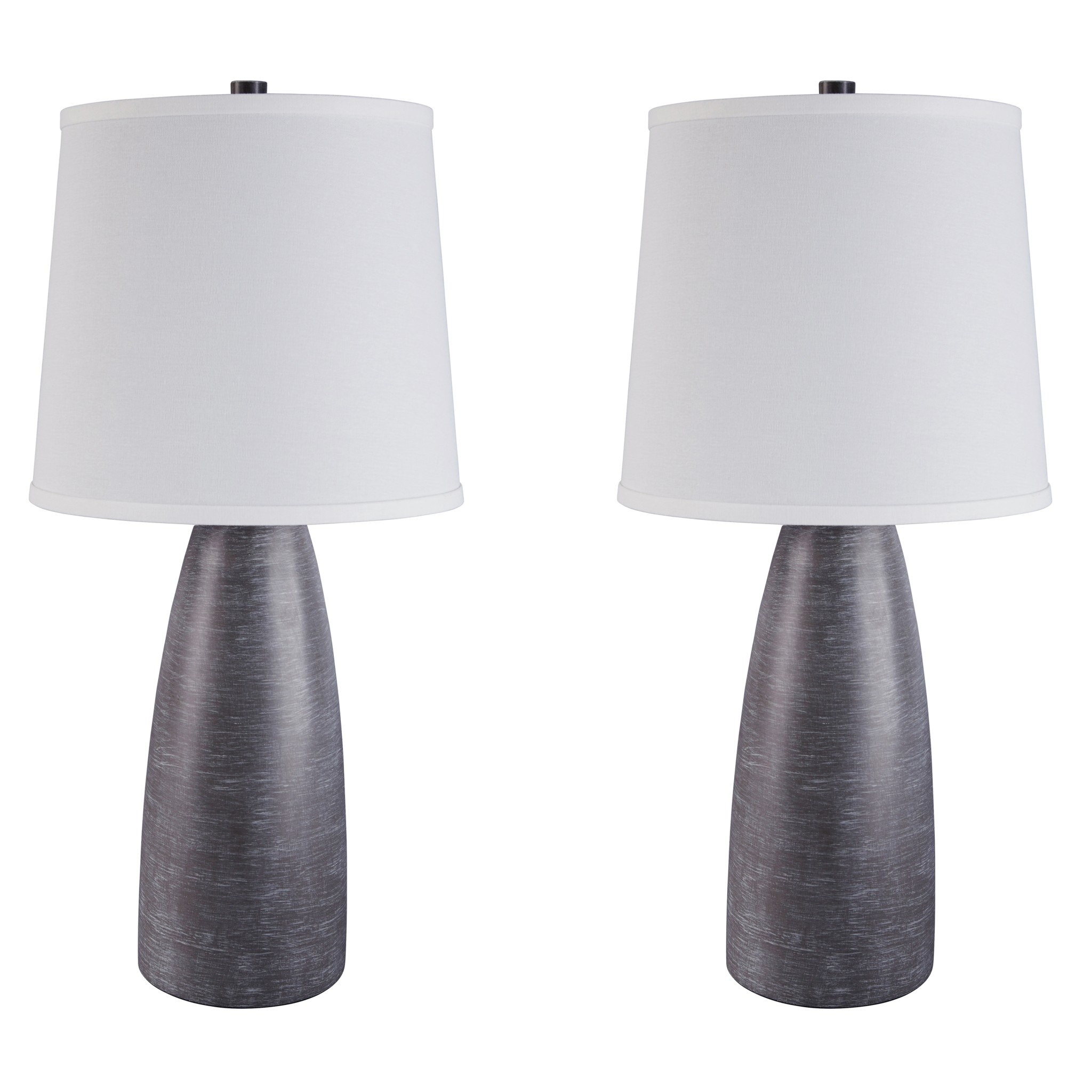 "POLY TABLE LAMP (2/CN)- ""Shavontae""- Gray L243004"