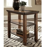 "Signature Design Chair Side End Table- ""Royard"" Brown T765-7"