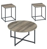 "Signature Design Occasional Table Set of 3- ""Wadeworth"" Two-Tone T103-213"