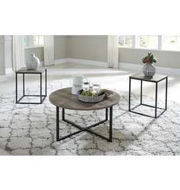 """Signature Design Occasional Table Set of 3- """"Wadeworth"""" Two-Tone T103-213"""