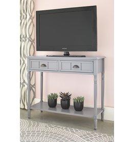 """Signature Design Console Sofa Table- """"Goverton"""" Gray A4000179"""