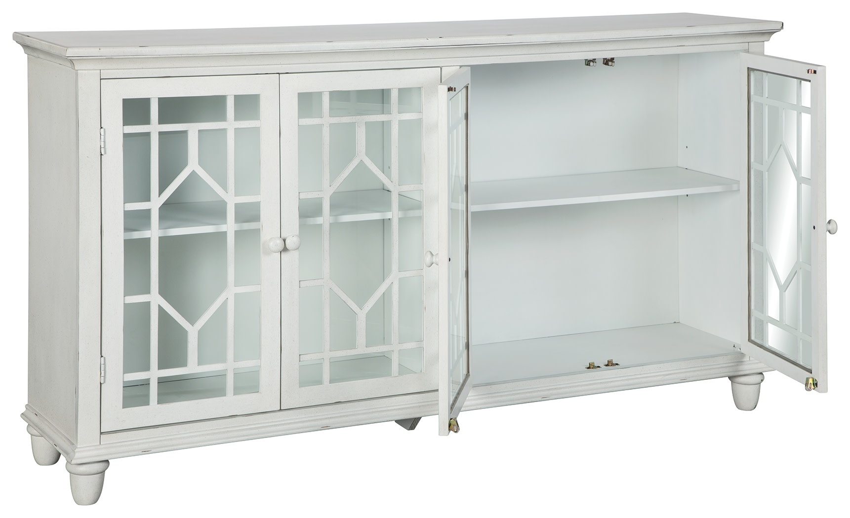 "Signature Design Accent Cabinet- ""Dellenbury""- White- A4000221"