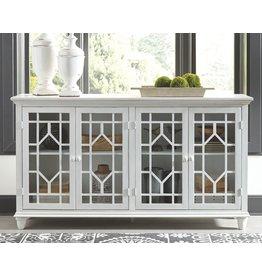 """Signature Design Accent Cabinet- """"Dellenbury""""- White- A4000221"""