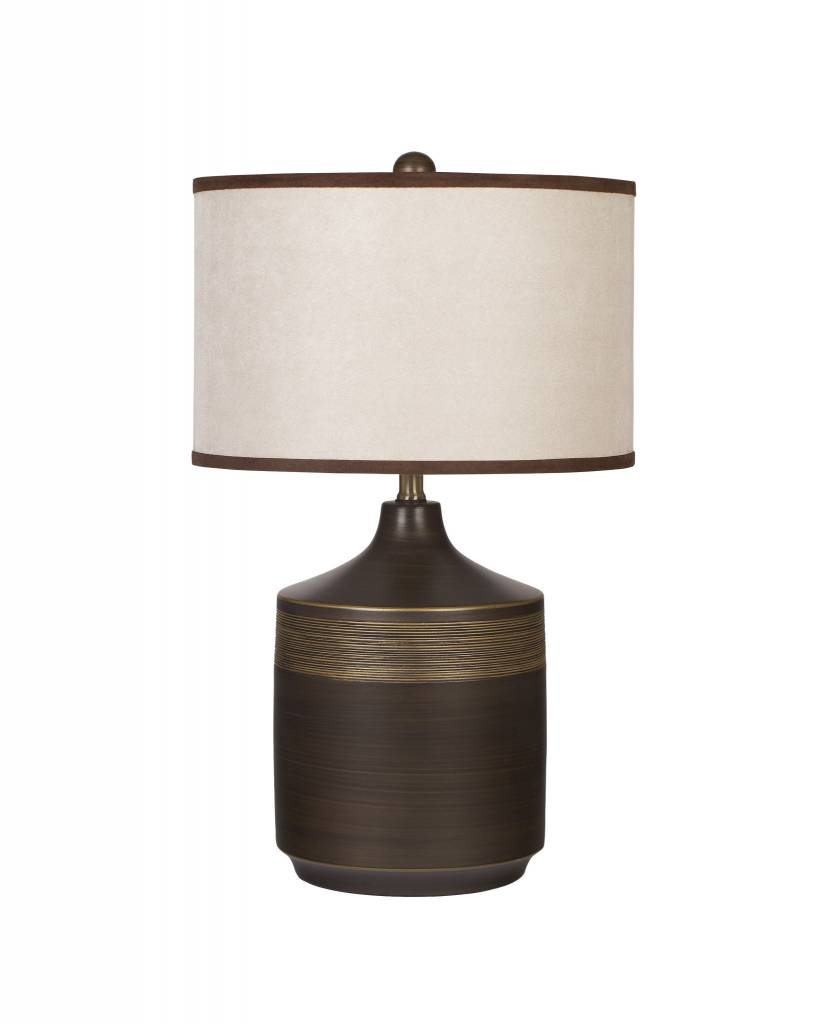 Signature Design Karissa, Ceramic Table Lamp Set of 2, Brown L129914