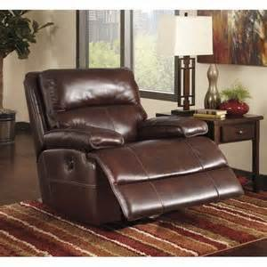 Signature Design Lensar, Swivel Power Rocker Recliner, Burgundy U9900032