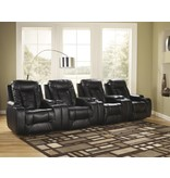 Signature Design Matinee Dura Blend, Power Recliner, Eclipse 8740106