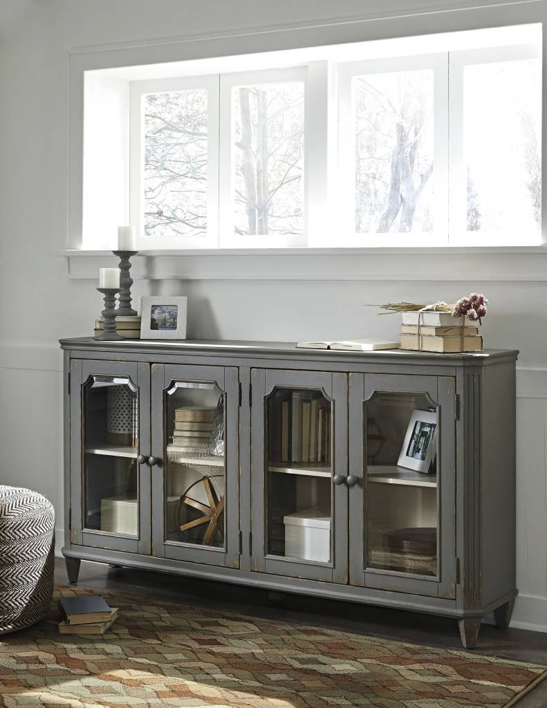 Signature Design Mirimyn, Door Accent Cabinet, Antique Gray T505-662