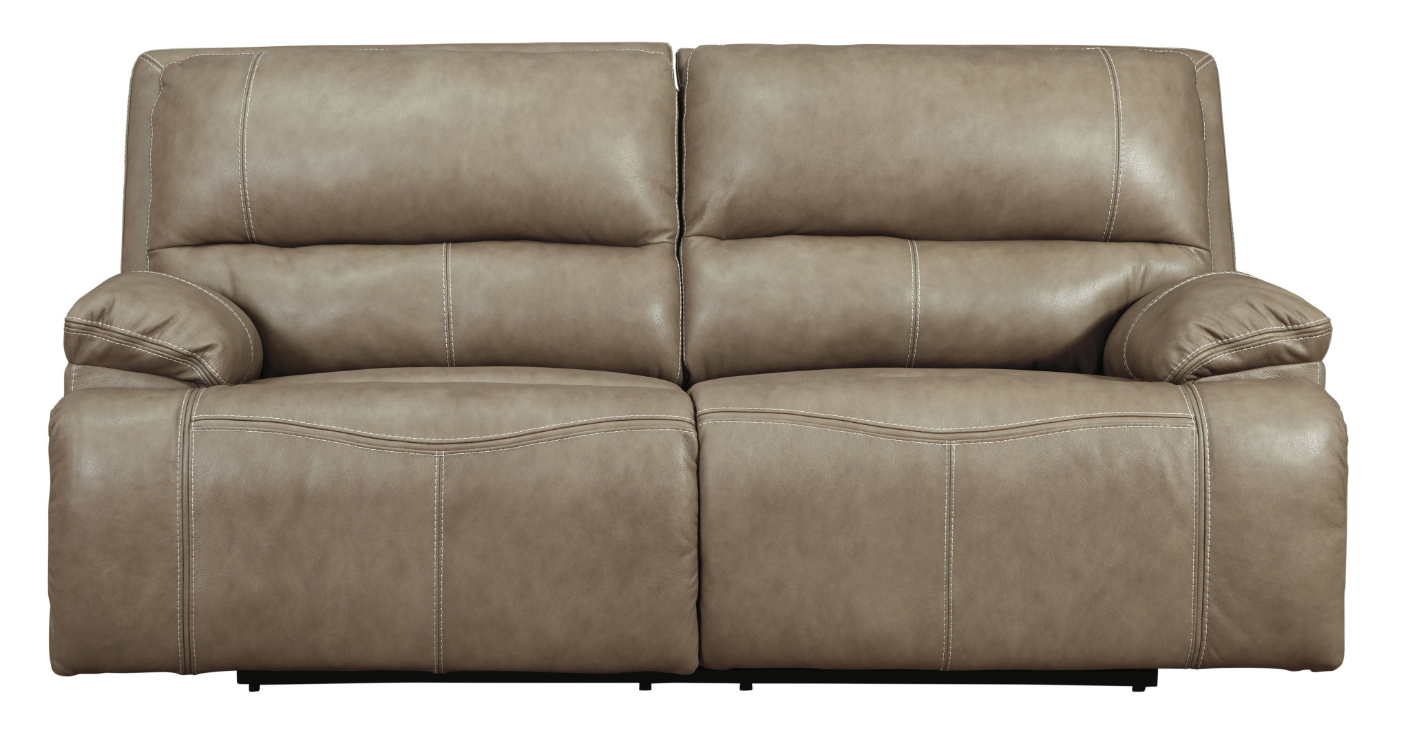 Signature Design 2 Seat Power Reclining Sofa w/ Adjustable Headrest, Ricmen, Putty Color U4370247