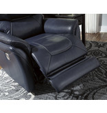 Signature Design Power Recliner w/ Adjustable Headrest, Stolpen, Blue 5650413