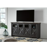 Signature Design Extra Large TV Stand, Tyler Creek, Black/Gray, W736-68