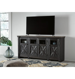 Signature Design Extra Large TV Stand, Tyler Creek, Black/Gray, W736-68