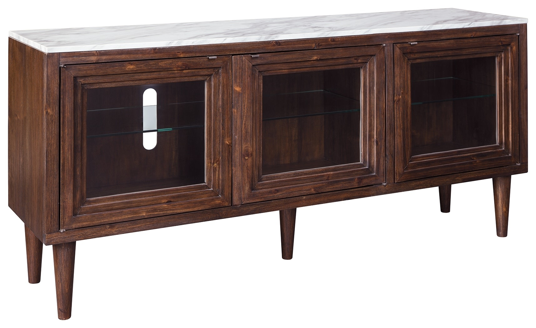 Signature Design Graybourne- Accent Cabinet- Brown w/ Faux Marble Top A4000244