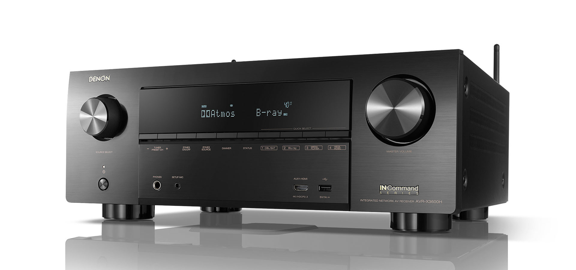 Denon Denon AVR-X3600H 9.2ch 4K AV Receiver with 3D Audio and HEOS