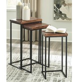 Signature Design Nesting Accent Tables Set of 3- Cainthorne- Brown/Black- A4000256