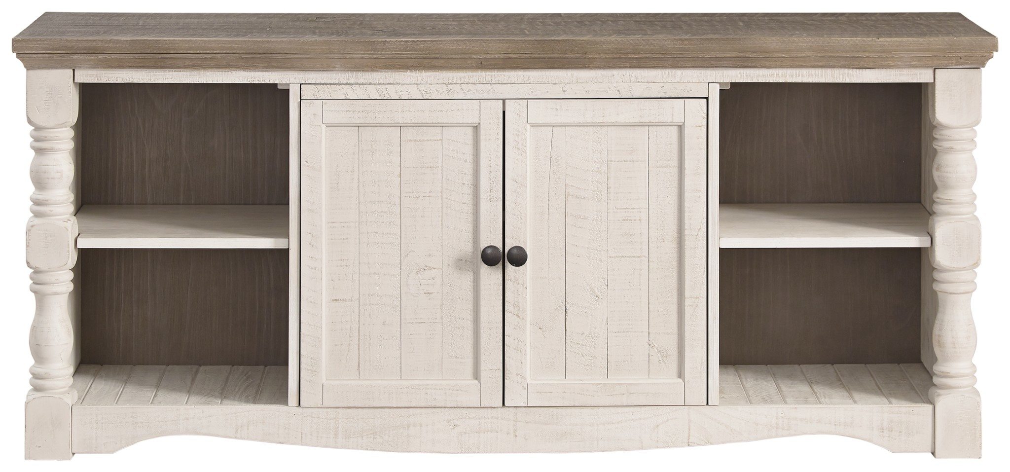 Signature Design Extra Large TV Stand- Havalance- Two Tone W814-30