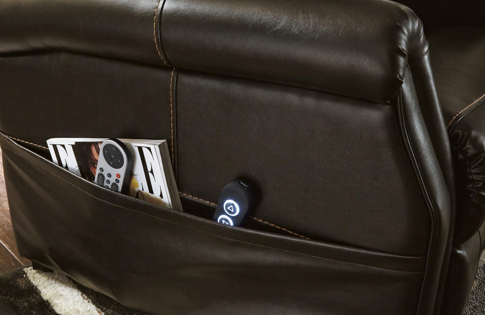 Signature Design Power Lift Recliner- Markridge- Chocolate