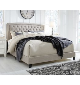 Signature Design Jerary- Light Gray KING Upholstered Bed- B090-782