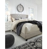 Signature Design KING- Jerary- Light Gray Upholstered Bed- B090-782