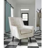 "Signature Design ""Zossen"" Accent Chair- Ivory A3000045"