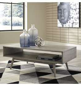 """Signature Design """"Asterson"""" Rectangular Cocktail Table- Gray T772-1"""